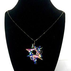 Jewelry - COPY - Glass Jewish Star of David Judaica Pendant